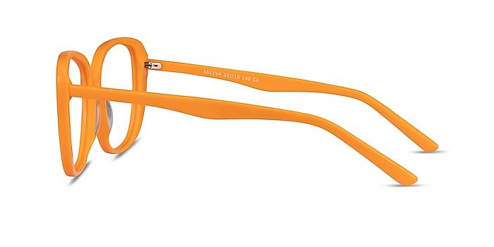 Mileva Orange Acétate Montures de lunettes de vue d'EyeBuyDirect