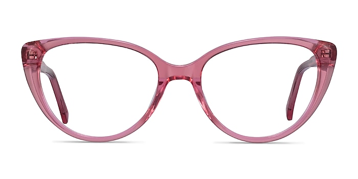 Cali Clear Pink Acetate Eyeglass Frames from EyeBuyDirect