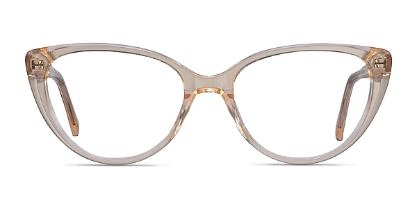 Cali Clear Yellow Acetate Eyeglass Frames