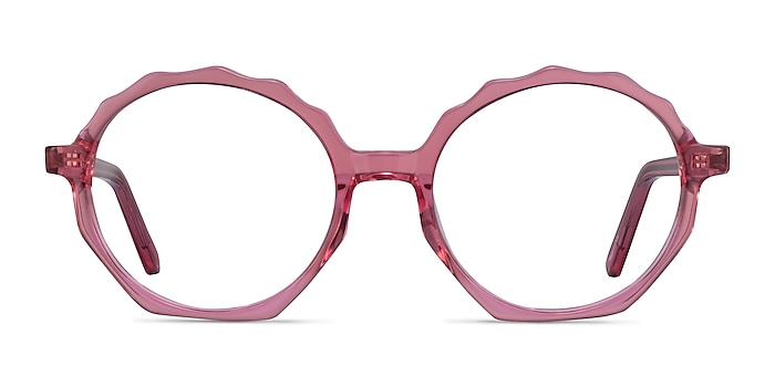 Anemone Clear Pink Acetate Eyeglass Frames from EyeBuyDirect