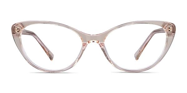 Twinkle Clear Brown Acétate Montures de lunettes de vue