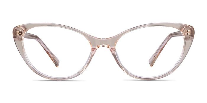 Twinkle Clear Brown Acétate Montures de lunettes de vue d'EyeBuyDirect