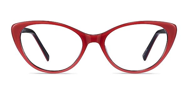 Twinkle Red Acetate Eyeglass Frames