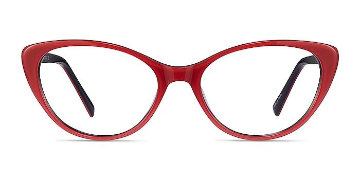 Twinkle Rouge Acétate Montures de lunettes de vue d'EyeBuyDirect