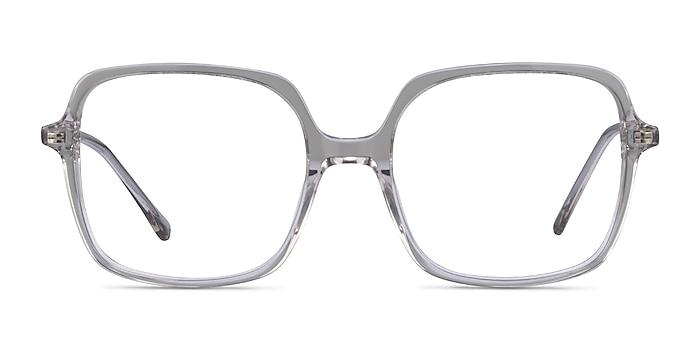 Domingo Clear Gray Acétate Montures de lunettes de vue d'EyeBuyDirect