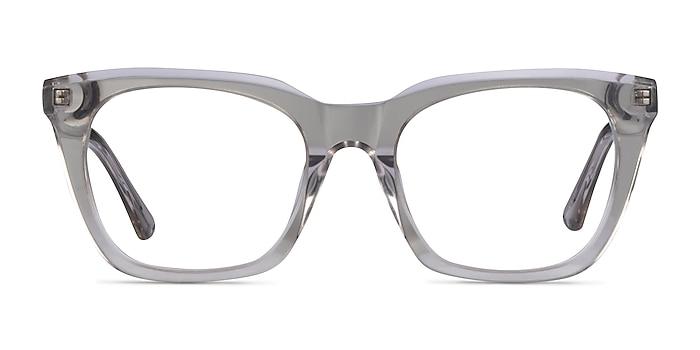 Lunar Clear Gray Acetate Eyeglass Frames from EyeBuyDirect