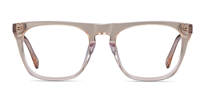 Zephyr Clear Brown Acetate Eyeglass Frames from EyeBuyDirect