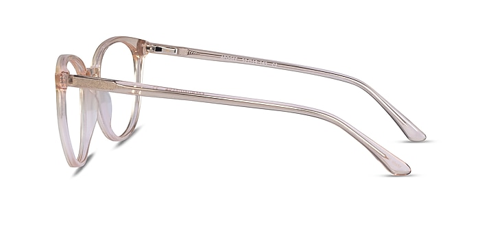 Apogee Clear Brown Acetate Eyeglass Frames from EyeBuyDirect