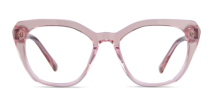 Judy Clear Pink Acetate Eyeglass Frames from EyeBuyDirect