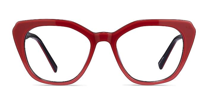 Judy Red Acetate Eyeglass Frames from EyeBuyDirect