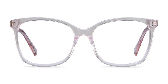 Michelle Clear Pink Acétate Montures de lunettes de vue d'EyeBuyDirect