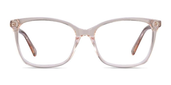 Michelle Clear Brown Acétate Montures de lunettes de vue d'EyeBuyDirect
