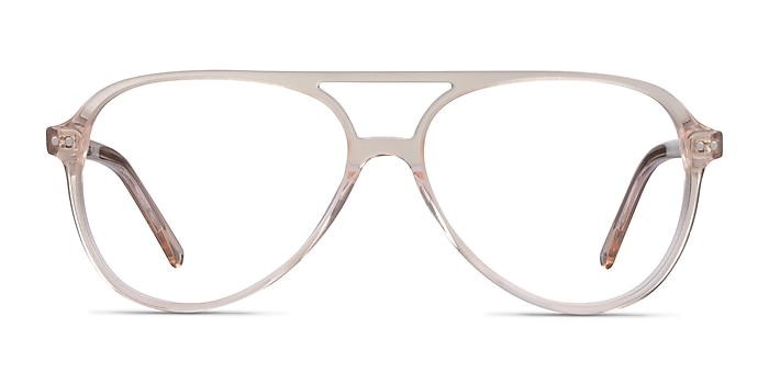 Rewind Clear Brown Acetate Eyeglass Frames from EyeBuyDirect