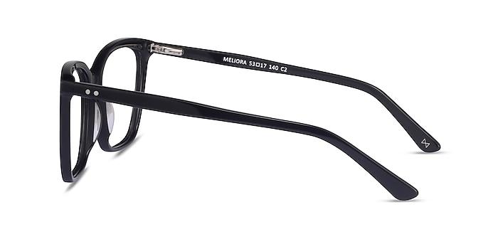 Meliora Noir Acétate Montures de lunettes de vue d'EyeBuyDirect
