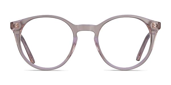 Latta Clear Pink Acetate Eyeglass Frames