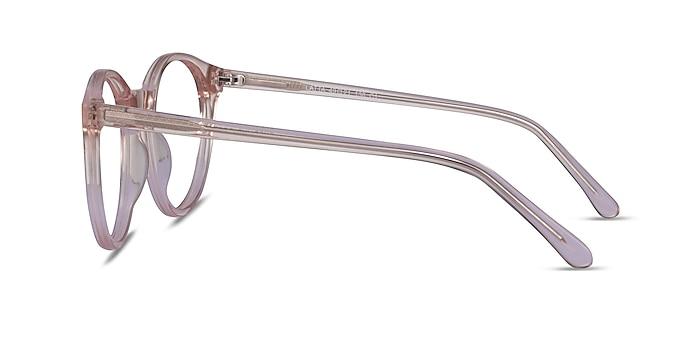 Latta Clear Pink Acetate Eyeglass Frames from EyeBuyDirect