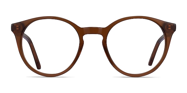 Latta Clear Brown Acétate Montures de lunettes de vue