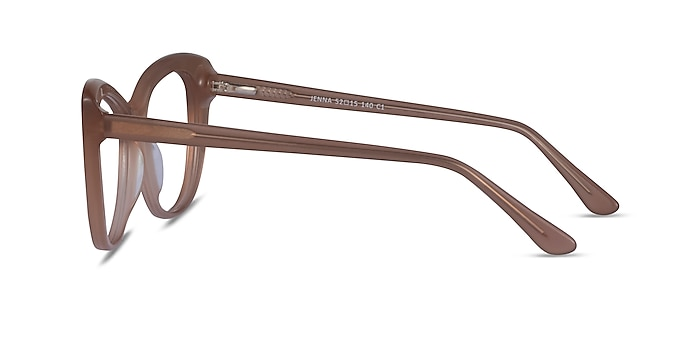 Jenna Clear Brown Acetate Eyeglass Frames from EyeBuyDirect