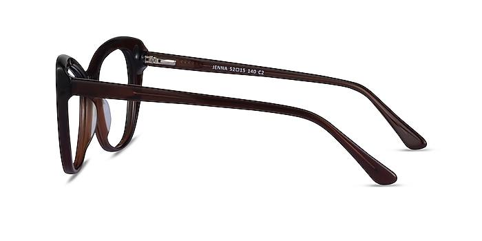 Jenna Dark Brown Acétate Montures de lunettes de vue d'EyeBuyDirect