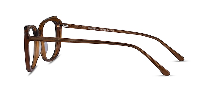 Magnolia Clear Brown Acetate Eyeglass Frames from EyeBuyDirect