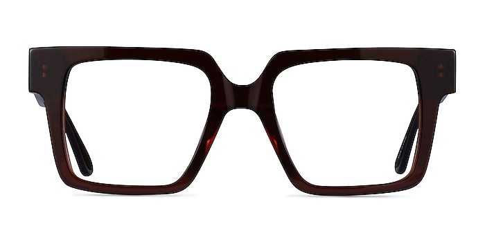 Granada Dark Brown Acetate Eyeglass Frames from EyeBuyDirect