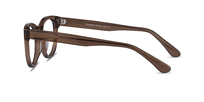 Cezanne Clear Brown Acetate Eyeglass Frames from EyeBuyDirect