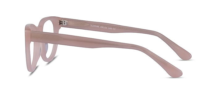 Cezanne Clear Pink Acetate Eyeglass Frames from EyeBuyDirect