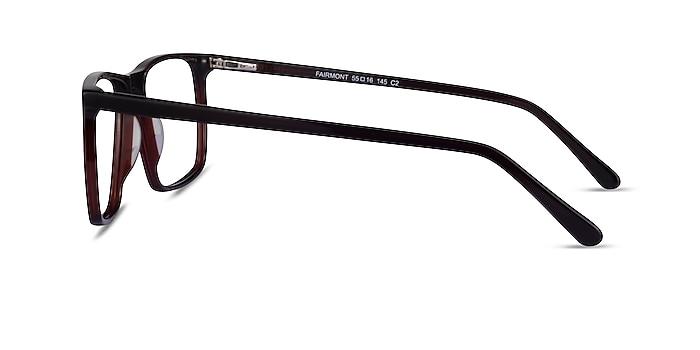 Fairmont Dark Brown Acetate Eyeglass Frames from EyeBuyDirect