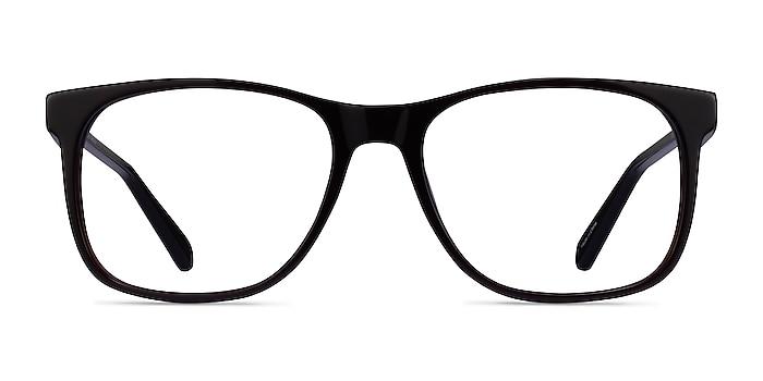 Joshua Dark Brown Acetate Eyeglass Frames from EyeBuyDirect