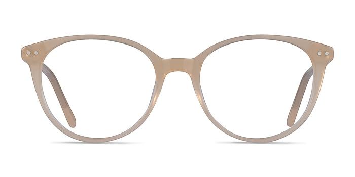 Leonia Light Yellow Acetate Eyeglass Frames from EyeBuyDirect