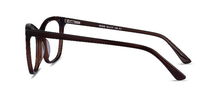 Rosie Dark Brown Acetate Eyeglass Frames from EyeBuyDirect