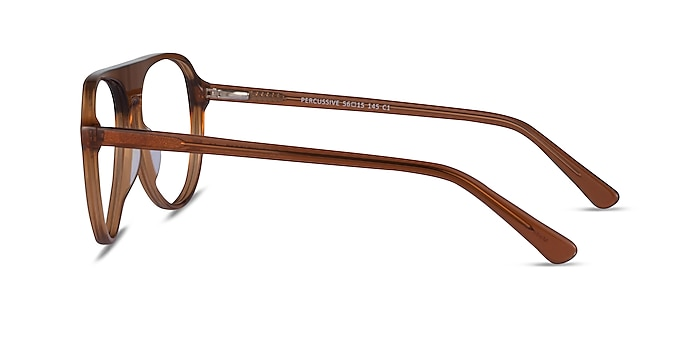 Percussive Clear Brown Acetate Eyeglass Frames from EyeBuyDirect
