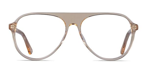 Percussive Clear Yellow Acetate Eyeglass Frames