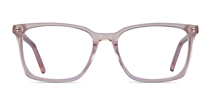 Panoply Clear Pink Acetate Eyeglass Frames from EyeBuyDirect