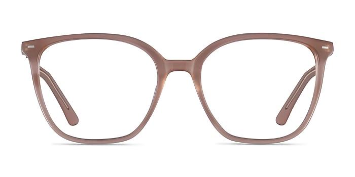Carola Clear Brown Acétate Montures de lunettes de vue d'EyeBuyDirect