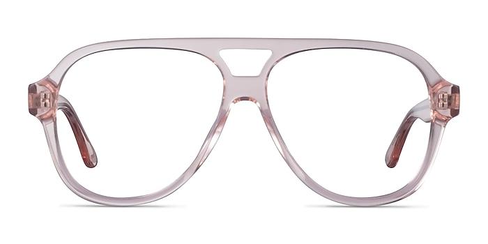 Iggy Clear Pink Acetate Eyeglass Frames from EyeBuyDirect