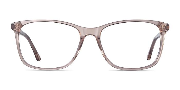 Crescendo Clear Pink Acetate Eyeglass Frames from EyeBuyDirect