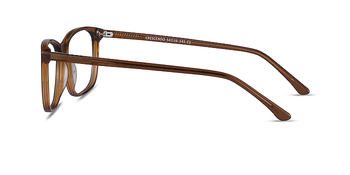 Crescendo Clear Brown Acetate Eyeglass Frames from EyeBuyDirect