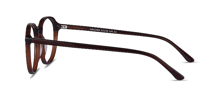 Halcyon Dark Brown Acetate Eyeglass Frames from EyeBuyDirect