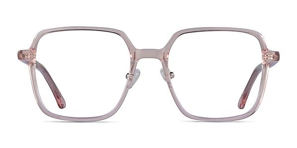 Modern Clear Pink Acetate Eyeglass Frames