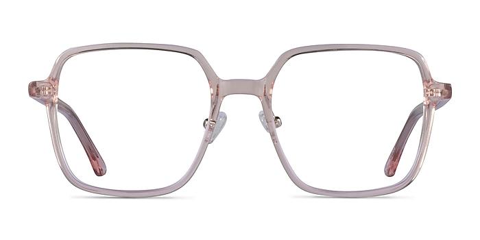 Modern Clear Pink Acetate Eyeglass Frames from EyeBuyDirect