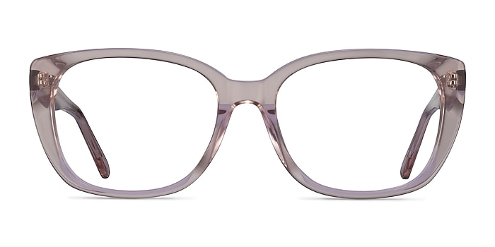 Odessa Clear Pink Acetate Eyeglass Frames from EyeBuyDirect