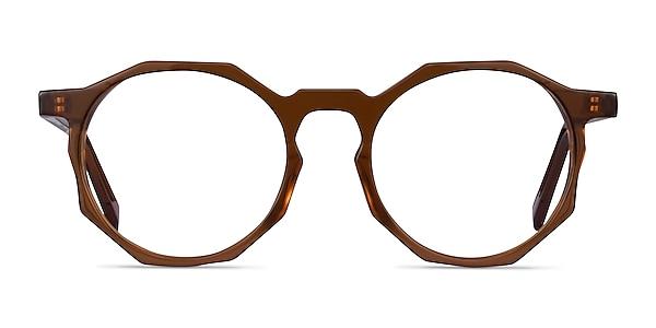 Primula Clear Brown Acétate Montures de lunettes de vue