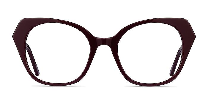 Noma Burgundy Acétate Montures de lunettes de vue d'EyeBuyDirect
