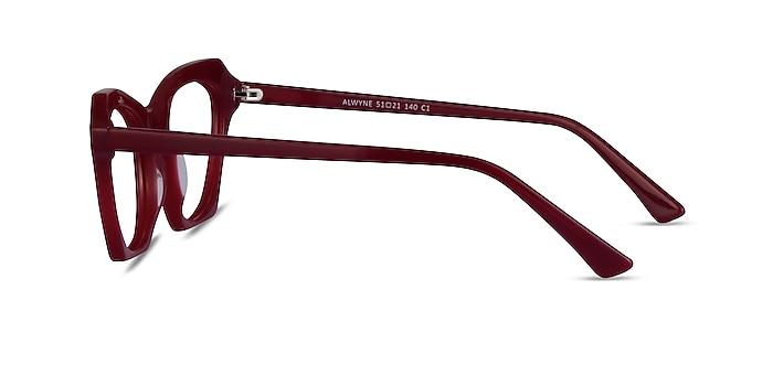 Alwyne Burgundy Acetate Eyeglass Frames from EyeBuyDirect