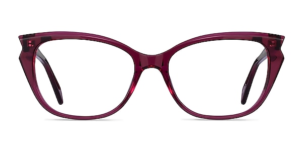 Maple Clear Burgundy Acetate Eyeglass Frames