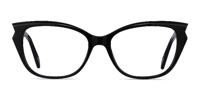 Maple Black Acetate Eyeglass Frames from EyeBuyDirect