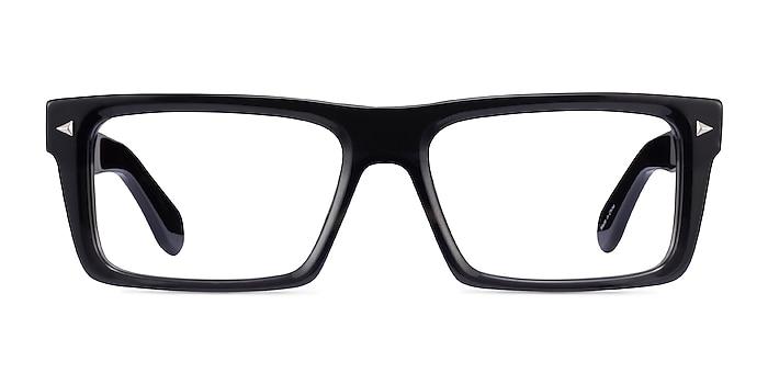 Sheldon Drak Gray Acétate Montures de lunettes de vue d'EyeBuyDirect