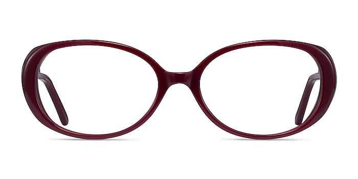 Surrey Burgundy Acetate Eyeglass Frames from EyeBuyDirect