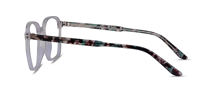 Ashby Clear Floral Acetate Eyeglass Frames from EyeBuyDirect
